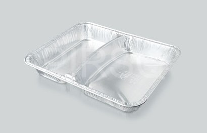 Aluminium Food Tray | 2 Compartment Image