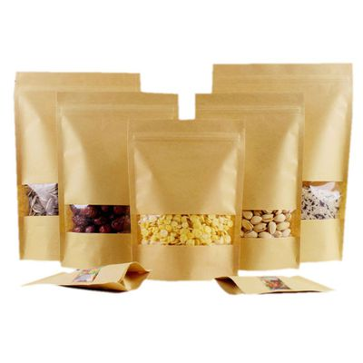 KRAFT STAND UP PAPER POUCHES WITH WINDOW | Sample Set Image