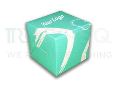"Disposable Dessert Box With Logo | W-4"" X L-4"" X H-4"" Image"