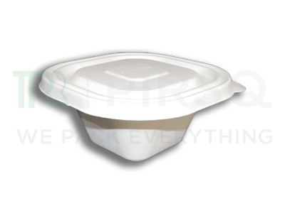 Bagasse Bowl With Smart Lock Lid | 500 ML Image
