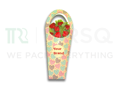 Customized Paper Flower Carry Bag Image